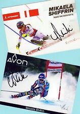 Mikaela shiffrin - 2 top autógrafo-imágenes (6) - Print copies + ski ak firmado