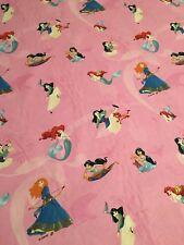 Disney Princesses Jasmin Ariel Mulan Brave 100% Cotton Fabric Material Per Metre
