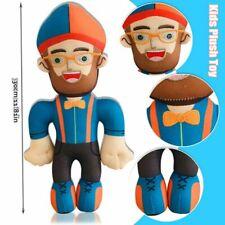 28//35cm Blippi Plush Toy Stuffed Doll Blippi Hat Cap Cake Topper Picks Prop
