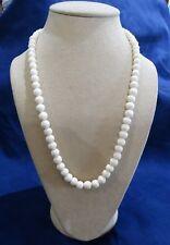"Vintage Bone Bead Necklace Graduated Beads 22"""