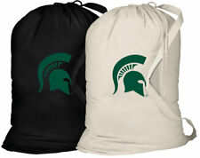 Michigan State Laundry Bags 2PC SET Michigan State Clothes Bag w/SHOULDER STRAP!