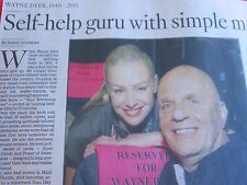 1939-2015 WAYNE DYER OBITUARY SELF-HELP GURU WITH SIMPLE MESSAGE STOP WORRYING