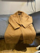 Zara Ladies Camel Boy Friend Coat Size Small