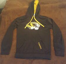MIZZOU TIGERS Adult Sz S Black Gold Pullover Hoodie Knights Apparel Missouri MU