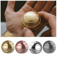 Adults Desk Ball Kinetic Metal Decompression Toy Finger Gyroscope Rotating O6C0