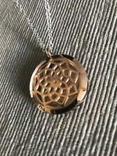 Valyria Stainless Rose Gold Lotus Essential Oil Diffuser Necklace for doTERRA