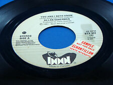 ALLAN SOBERMAN - You And I Both Know / Open Up The Door - 1981 BOOT 45 VG+
