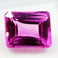 Natural CERTIFIED Emerald Cut  8 Ct Pink Ceylon Sapphire Loose Gemstone