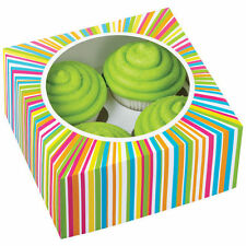 Cupcake Box Color Wheel 4-Cavity 3 ct from Wilton #0814 - NEW