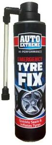QUICK FIX CAR EMERGENCY FLAT TYRE INFLATE PUNCTURE REPAIR KIT 300ml