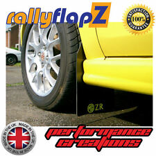 Rally Mudflaps MG ZR Rover Mud Flaps rallyflapZ x 4 Black Logo Yellow 4mm PVC