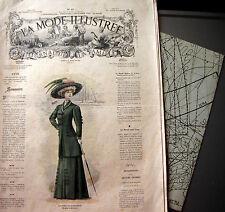 LA MODE ILLUSTREE + PATRON,  n° 50/1908 Voir modèles à réaliser, FRENCH PATTERN