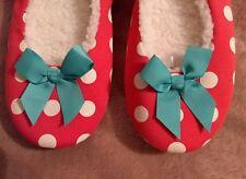Dickins & Jones womens Slippers UK 5 Orange, green, & White polka dot Christmas
