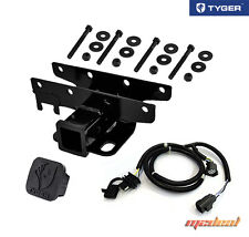 TYGER Wrangler Receiver Hitch with Wiring Harness & Hitch Cover for 2007-2018 JK