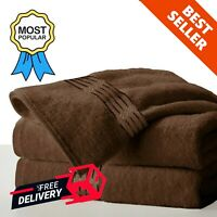 Egyptian Cotton Pack of 2 Bath Sheets Bathroom Towel Bale Sets Hand Face Towels