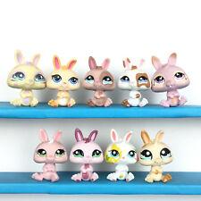 Authentic 9 Littlest Petshop Lot Dwarf Rabbit Bunny  LPS Set / Lapin Nain Baby