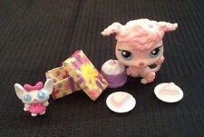 Littlest Pet Shop LPS Pink Poodle Dog #48 Birthday Party cake pie toy Bobblehead