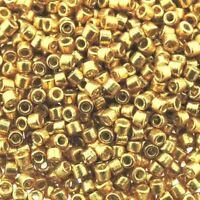 Miyuki Delica Seed Beads Size 11/0 Duracoat Galvanized Gold 7.2g-Tube (DB1832)