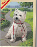 West Highland Terrier Greetings Card - blank inside, birthday, westie, dog