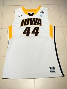 Vintage 2010-11 Iowa Hawkeyes Game Issued Nike Basketball Jersey #44 Cougill