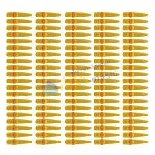 NEU 100pcs Kazoos Kinder Spielzeug Wind Instrument gelb Farbe Kunstoff Kazoos
