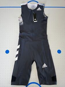 ADIDAS SUIT SS M 2020 RUNNING SPEEDSUIT BLACK EH4223 (RARE) MEN'S SZ: M, L