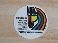 Autocollant / sticker salon du cheval Paris 1977