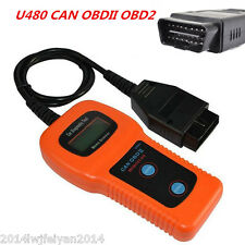 U480 CAN OBD-II OBD2 Auto Scanner Fault Code Reader Car Engine Diagnostic Tool