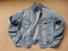LEE Vintage Stonewashed Blue Denim Trucker Jeans Jacket SLIM FIT XL UNISEX