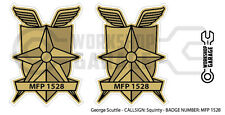 New! Mad Max MFP MAIN FORCE DECAL STICKER - TWIN SET - MFP 1528