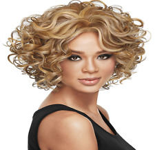 Gold BOBO Style Short Wigs Wavy Hair Ladies Womens Wigs Fluffy Curly Hair In UK