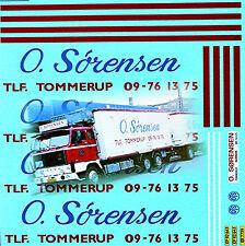 E.Sorensen tommerup Denmark VOLVO F89 1:50 truckdecal CAMION décalcomanie