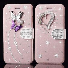 DIY Bling Glitter Diamond Wallet Magnetic Flip Case Cover For iPhone Samsung