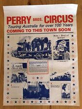 Early Advertising Poster Perry' Bros. Circus