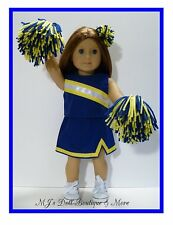 Royal Blue & Gold Cheerleader Set fits American Girl Doll