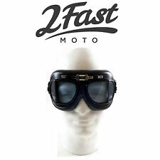 2FastMoto Red Baron Goggles Cruiser Harley Davidson Triumph Victory Buell