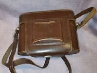 Vintage Camera Cover ONLY:- Unbranded Brown Leather Case Good Condition 23