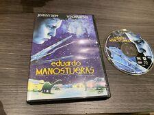 EDUARDO MANOSTIJERAS EDWARD SCISSORHANDS DVD JOHNNY DEPP WINONA RYDER