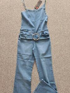 Blue Pearl Jeans- Anzug Overall Jumpsuit Blue Stretch Größe M