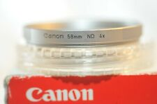 Canon 58mm ND 4X Neutral Density early Chrome filter from 70's FL FD RF EF lens