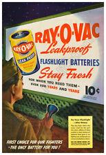 Ray-O-Vac Battery 1945 Vintage Poster