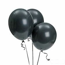 "(1) 28cm 11"" BLACK LATEX BALLOONS Wedding Hollywood Party Decoration Balloon"