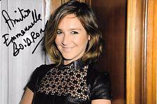 Autographe sur photo de : Emmanuelle Boidron ( 18,5 x 12, 5)