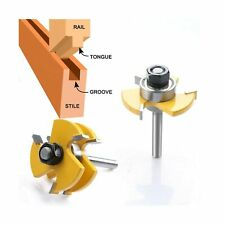"WREOW Tongue and Groove Router Bit 1/4"" Shank Grooving Router Bit Wood Millin..."