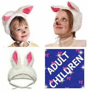 Animal Bunny Rabbit Hare Fancy Dress Hat Children & Adult Carnival Costume Party