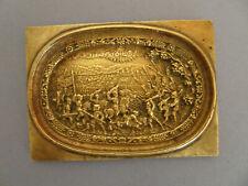 Plaque de bronze représentant une scène de bataille au XV° siècle.XIX°.