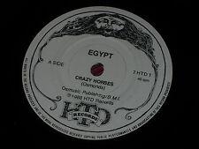 "Egypt:  Crazy Horses  rare 1988 HDT  7""  NWOBHM   EX+"
