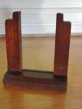 More details for vintage 1930/40s art deco freestanding oak & glass photo frame p&p inc