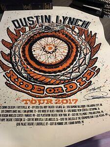 Dustin Lynch Autographed Tour Poster 2017