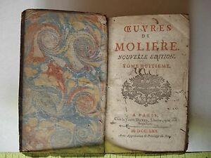 Antique Book OEVRES DE MOLIERE - Tome 8 - 1770